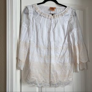 Tory Burch embroidered blouse size 4